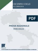 Rapporto Prova Nazionale 2009 2010