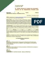 Decreto Nº 320-999 - Reglamentación Técnica de los Alojamientos Privados para Adultos Mayores