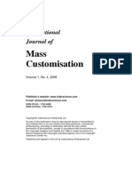 International Journal of Mass Customisation