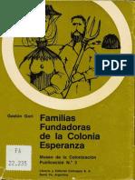 Gaston Gori. Familias Fundadoras de Esperanza.