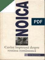 Constantin Noica-Cuvint Impreuna Despre Rostirea Romaneasca-Humanitas (1996)