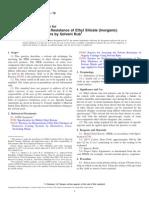 MEK Resistance of Ethyl Silicate