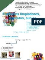 formulaciones 1 limpiadores, suciedad