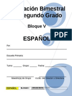 2do Grado - Bloque V Español