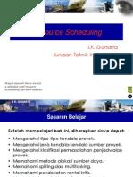 2012 09 03 Resource Scheduling