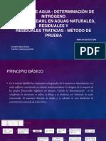 ANÁLISIS DE AGUA - DETERMINACIÓN DE NITRÓGENO