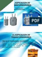CLASIFICACIÓN DE TRANSFORMADORES