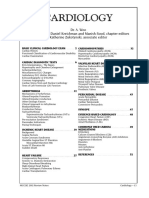 Review Notes - Cardiology (by Dr. A. Woo)
