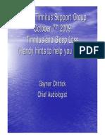 Tinnitus and Sleep Loss