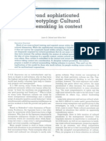 Beyond Sophisticated Stereotyping-Cultural Sensemaking in Context