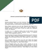 Eticheta in Prezenta Familiei Regale a Romaniei