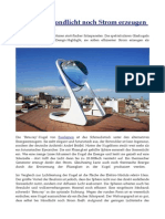 Sonnenspähren - Selbst aus Mondlicht noch Strom erzeugen