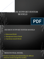 Decision Support System Models