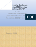 Biodiversity Database1