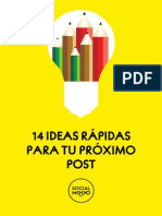 14 Ideas Rapidas Proximo Post