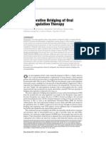 Anticoagulation Therapy 1