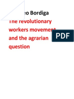 Amadeo Bordiga- The Revolutionary Workers Movement and the Agrarian Question