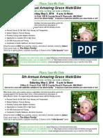 5th Annual Amazing Grace Walk Bulletin Insert