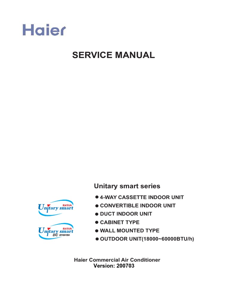 Service Manual Haier | Air Conditioning | Mechanical Fan