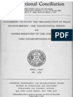 Quincy Wright, Political Conditions of he