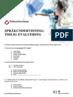 Tidlig Evaluering Norsk-1