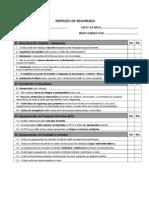 Check List Inspecao de Seguranca
