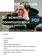 Using social media for scientific communication