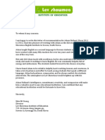 letter of recommendation- lev showmea