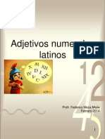 Adjetivos Numerales Latinos 4 4 FMM 2014