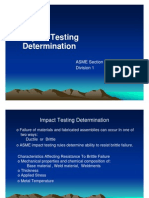 Impact Testing Requirements