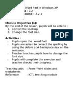 ICTL Lesson Plan Year 2-Week 11