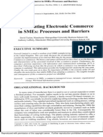 Implementing Electronic Commerce in SMEs Processes and Barriers