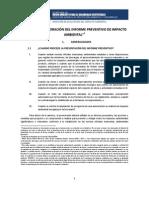GUÍA PARA ELABORACIÓN DEL INFORME PREVENTIVO DE IMPACTO AMBIENTAL