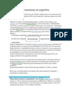 Inversiones en Argentina