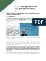 El Libro Digital Es Superficial- Vargas Llosa