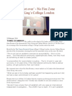 'The war is not over' - No Fire Zone screening at King's College London