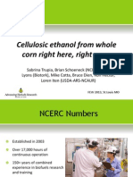 Cellulosic Ethanol From Corn
