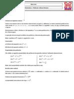 Matematica Teorico Funcao Exponencial e Logaritmica