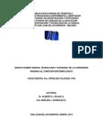 DE LA CURIOSIDAD INGENUA AL CONOCER EPISTEMOLÓGICO