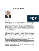 Cordero Discrepa a Madero