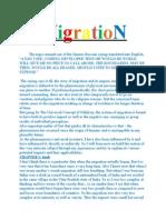 Essay on MigratioN