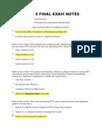 15440080 Ccna 3 Final Exam Notes