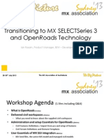 Transitioning to MX SELECTSeries 3  and OpenRoads Technology