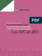Memorias Seminario presentación nuevo CPACA Ley 1437 2011