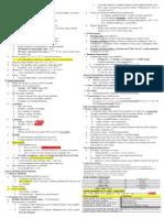 Crib Sheet - Final Exam