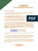 Acta Conmemorativa Cincuentenario SMCS-Invitación