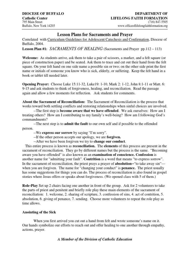Sacraments and Prayer | Sacraments | Catholic Church