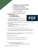 ECON 1001 Tutorial Sheet 3 Semester I 2013-2014