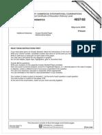 Additional Mathematics 2006 June Paper 2