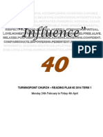Influence 40 Reading Plan